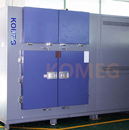 Thermal shock testing chamber in delivery